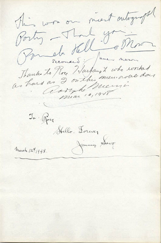 Image 3 for James A. Farley - Autograph 03/22/1948 with co-signers - HFSID 29581