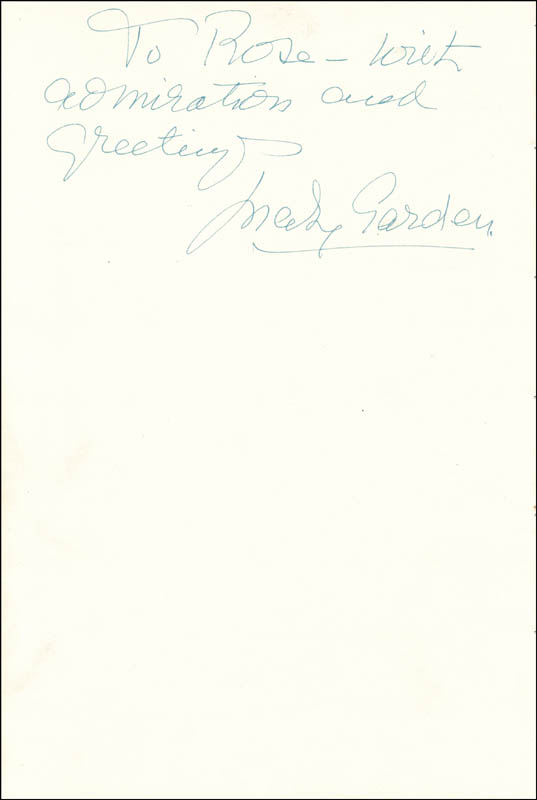 Image 1 for Mary Garden - Autograph Note Signed - HFSID 29584
