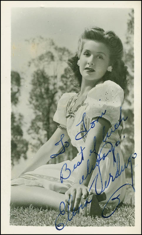 Image 1 for Elena Verdugo - Autographed Inscribed Photograph - HFSID 295890