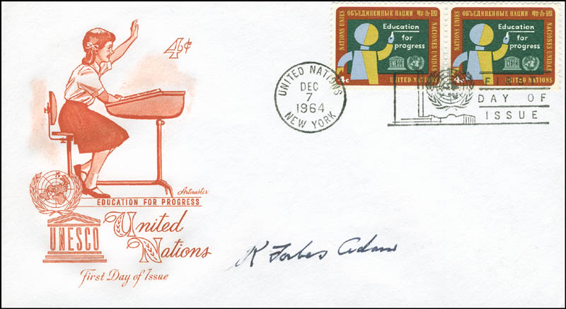 Image 1 for General Ronald Forbes Adam - First Day Cover Signed - HFSID 295892