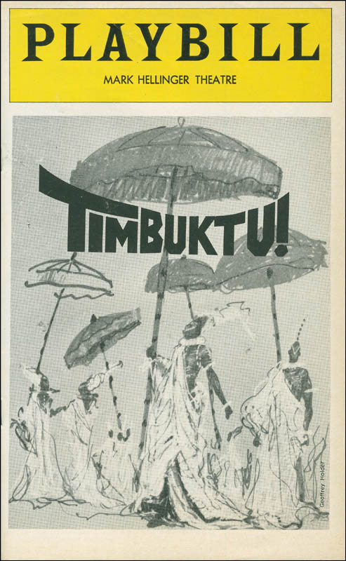 Image 3 for Timbuktu! Play Cast - Show Bill Signed co-signed by: Melba Moore, Eartha Kitt, Gilbert Price, Miguel Godreau, Ira Hawkins, Tony Carroll - HFSID 295943