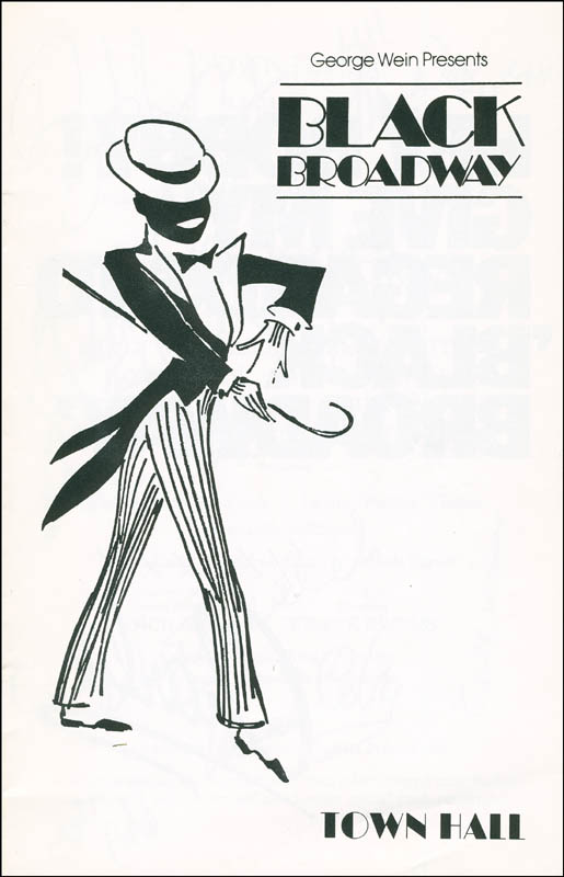 Image 3 for Black Broadway Play Cast - Show Bill Signed with co-signers - HFSID 295954