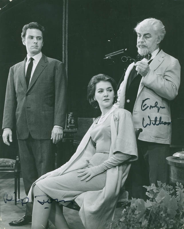 Image 1 for Daughter Of Silence Broadway Cast - Autographed Signed Photograph co-signed by: Emlyn Williams, Rip Torn - HFSID 295955