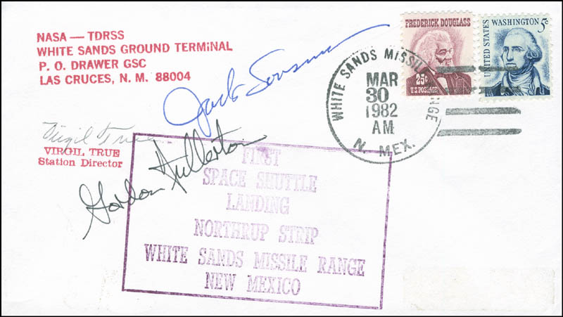 Image 1 for Space Shuttle Columbia - Sts - 3 Crew - Commemorative Envelope Signed with co-signers - HFSID 296005