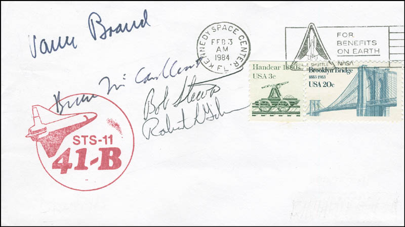 Image 1 for Space Shuttle Challenger - Sts - 41b Crew - Commemorative Envelope Signed with co-signers - HFSID 296014