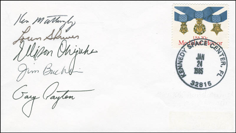 Image 1 for Space Shuttle Discovery - Sts - 51c Crew - Commemorative Envelope Signed with co-signers - HFSID 296021
