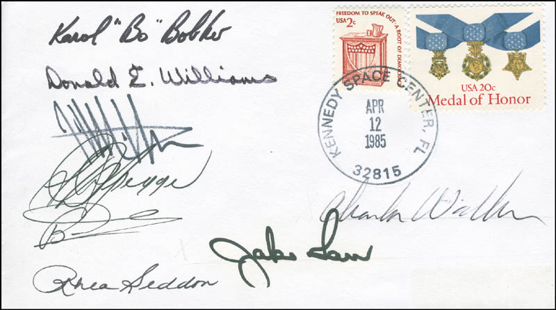 Image 1 for Space Shuttle Discovery - Sts - 51d Crew - Commemorative Envelope Signed with co-signers - HFSID 296023
