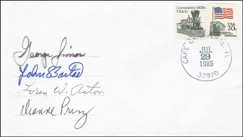 Image 1 for Space Shuttle Challenger - Sts - 51f Crew - Commemorative Envelope Signed with co-signers - HFSID 296025