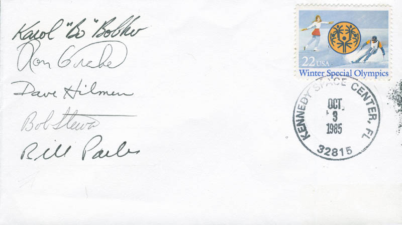 Image 1 for Space Shuttle Atlantis - Sts - 51j Crew - Commemorative Envelope Signed with co-signers - HFSID 296026