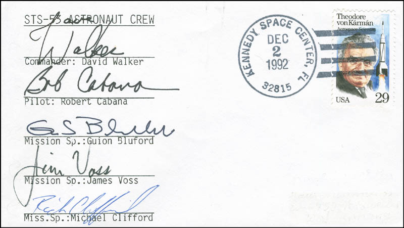 Image 1 for Space Shuttle Discovery - Sts - 53 Crew - Commemorative Envelope Signed with co-signers - HFSID 296029