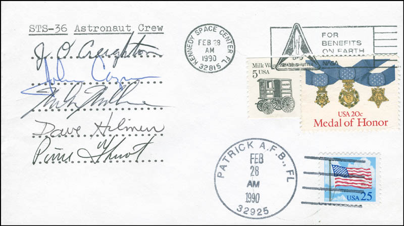 Image 1 for Space Shuttle Atlantis - Sts - 36 Crew - Commemorative Envelope Signed with co-signers - HFSID 296032