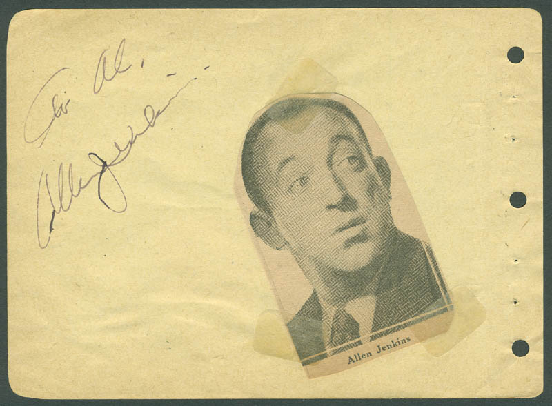 Image 3 for Eddie 'Rochester' Anderson - Autograph Note Signed In Character co-signed by: Allen Jenkins - HFSID 296036