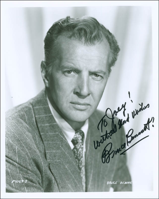 Image 1 for Bruce (Herman Brix) Bennett - Autographed Inscribed Photograph - HFSID 296070
