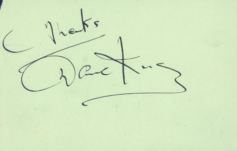 Image 3 for Nat King Cole - Autograph co-signed by: Dave King - HFSID 29607