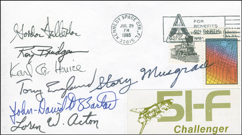 Image 1 for Space Shuttle Challenger - Sts - 51f Crew - Commemorative Envelope Signed with co-signers - HFSID 296096