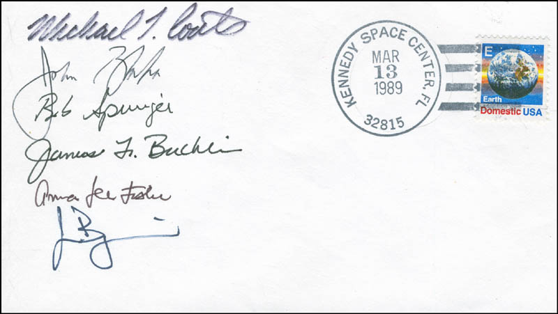 Image 1 for Space Shuttle Discovery - Sts - 29 Crew - Commemorative Envelope Signed with co-signers - HFSID 296098