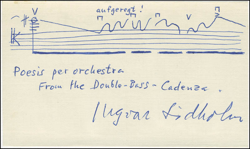 Image 1 for Ingvar Lidholm - Autograph Musical Quotation Signed - HFSID 296151
