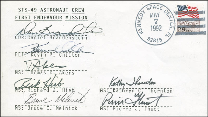 Image 1 for Space Shuttle Endeavour - Sts - 49 Crew - Commemorative Envelope Signed with co-signers - HFSID 296173