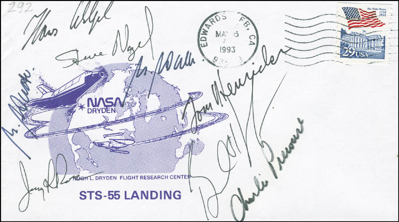 Image 1 for Space Shuttle Columbia - Sts - 55 Crew - Commemorative Envelope Signed with co-signers - HFSID 296174
