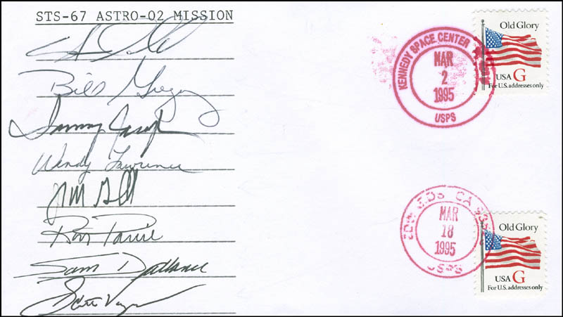 Image 1 for Space Shuttle Endeavour - Sts - 67 Crew - Commemorative Envelope Signed with co-signers - HFSID 296184