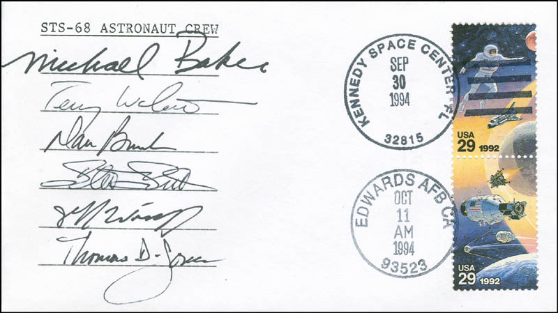 Image 1 for Space Shuttle Endeavour - Sts - 68 Crew - Commemorative Envelope Signed with co-signers - HFSID 296186