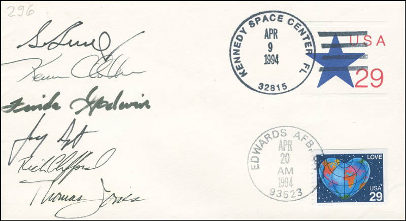 Image 1 for Space Shuttle Endeavour - Sts - 59 Crew - Commemorative Envelope Signed with co-signers - HFSID 296208