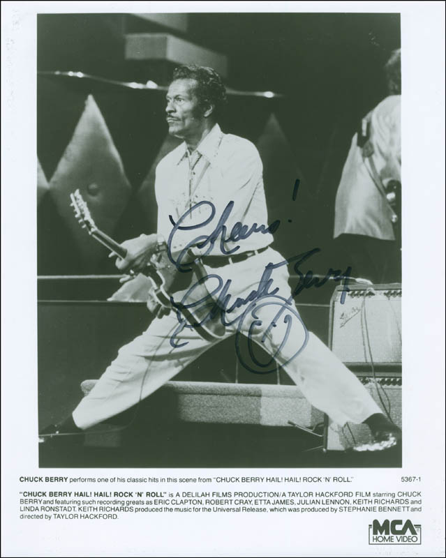 Image 1 for Chuck Berry - Autographed Signed Photograph - HFSID 296216