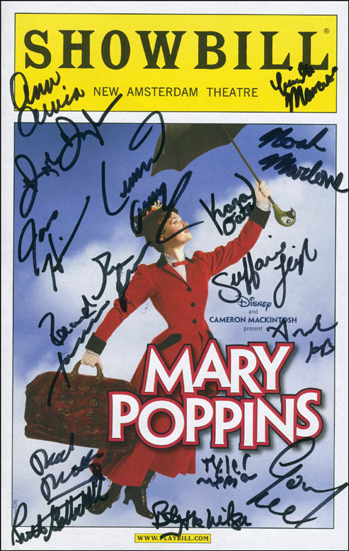 Image 1 for Mary Poppins Broadway Cast - Show Bill Signed with co-signers - HFSID 296296