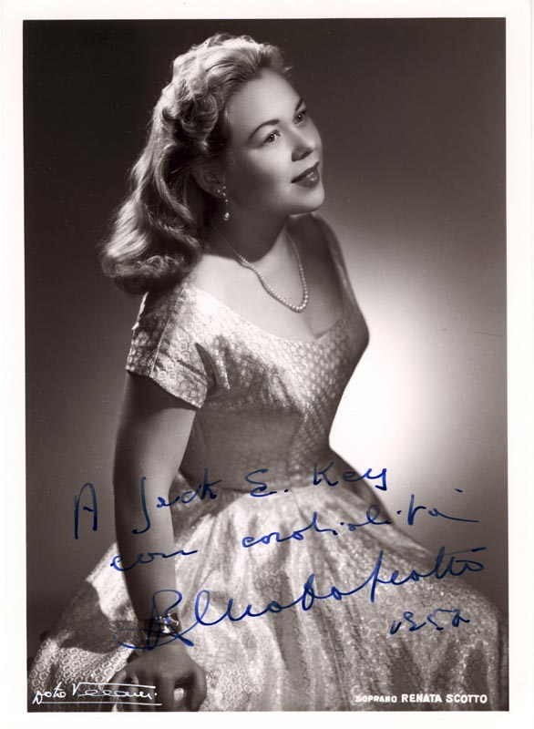 Image 1 for Renata Scotto - Autographed Inscribed Photograph 1952 - HFSID 29630