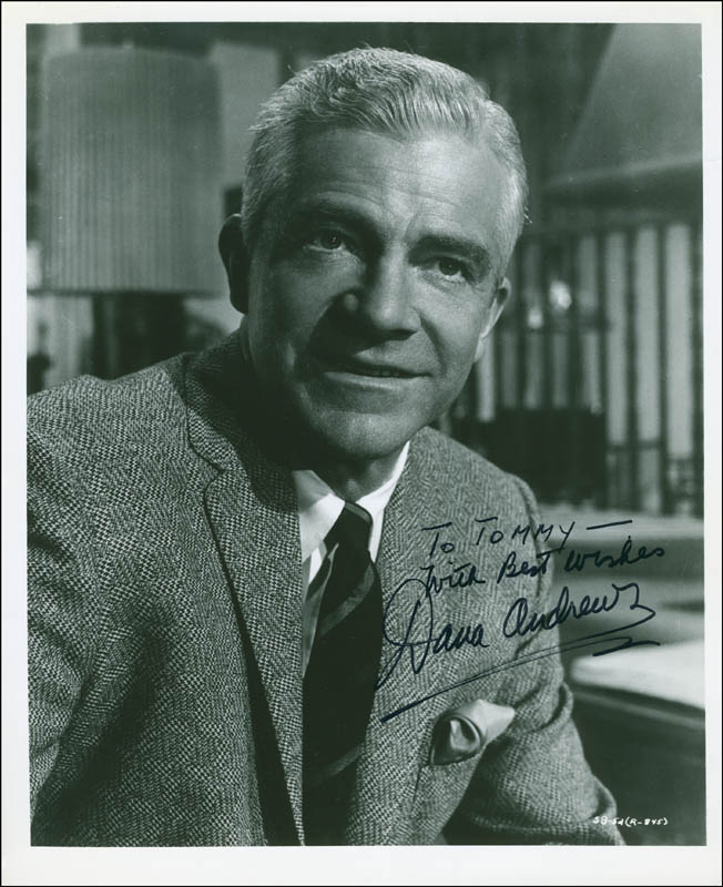 Image 1 for Dana Andrews - Autographed Inscribed Photograph - HFSID 296322