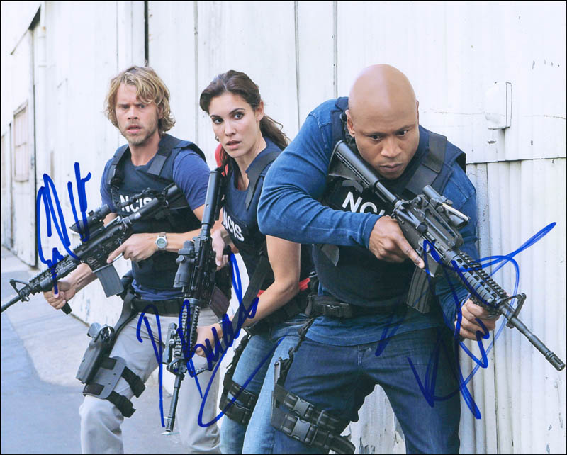 Image 1 for Ncis: Los Angeles TV Cast - Autographed Signed Photograph co-signed by: Ll Cool J , Daniela Ruah, Eric Christian Olsen - HFSID 296330