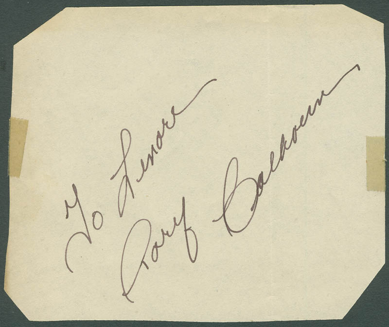 Image 1 for Rory Calhoun - Inscribed Signature - HFSID 296345
