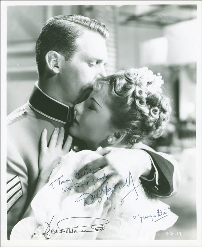 Image 1 for Gunga Din Movie Cast - Autographed Inscribed Photograph co-signed by: Joan Fontaine, Douglas Fairbanks Jr. - HFSID 296380