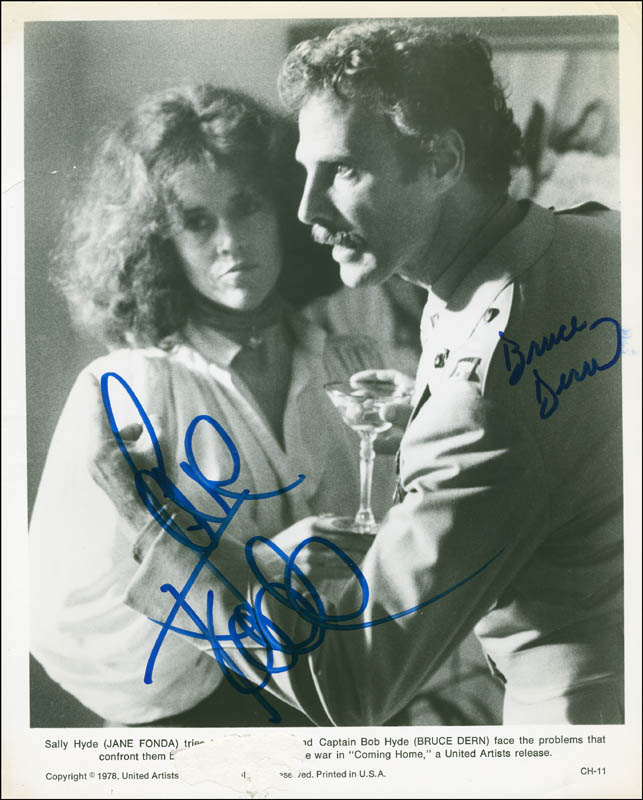 Image 1 for Coming Home Movie Cast - Autographed Signed Photograph co-signed by: Bruce Dern, Jane Fonda - HFSID 296381