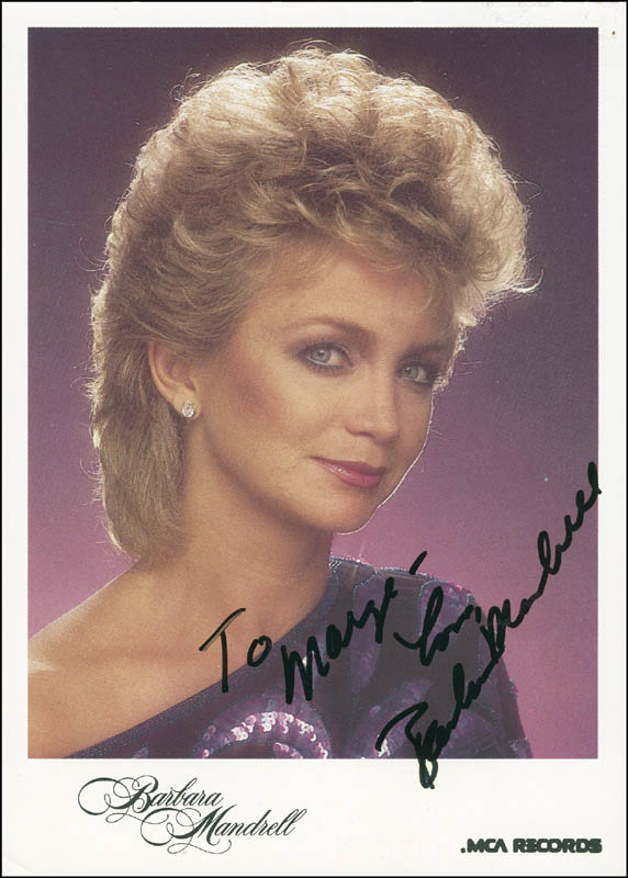 Image 1 for Barbara Mandrell - Autographed Inscribed Photograph - HFSID 296409