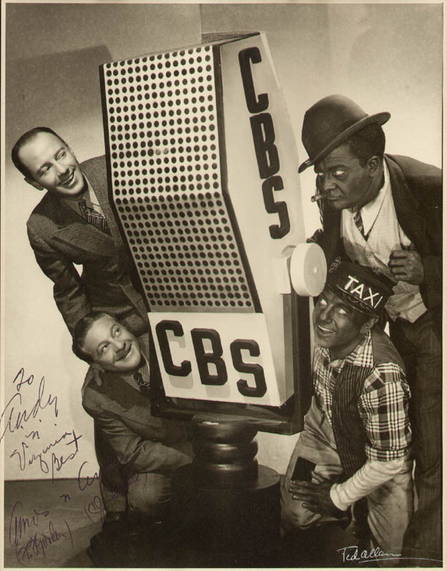Image 1 for Amos 'N' Andy Radio & TV Casts - Autographed Inscribed Photograph co-signed by: Charles 'Andy' Correll, Freeman 'Amos' Gosden - HFSID 296485