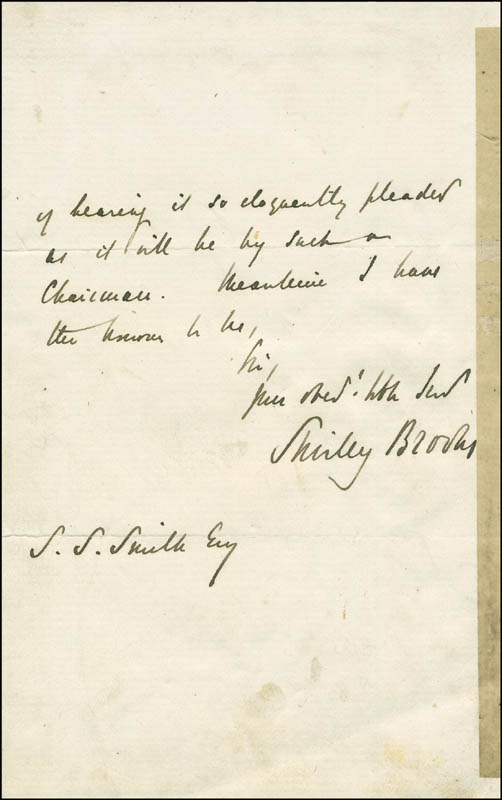 Image 1 for Shirley (Claude William) Brooks - Autograph Letter Signed 03/24/1863 - HFSID 296548