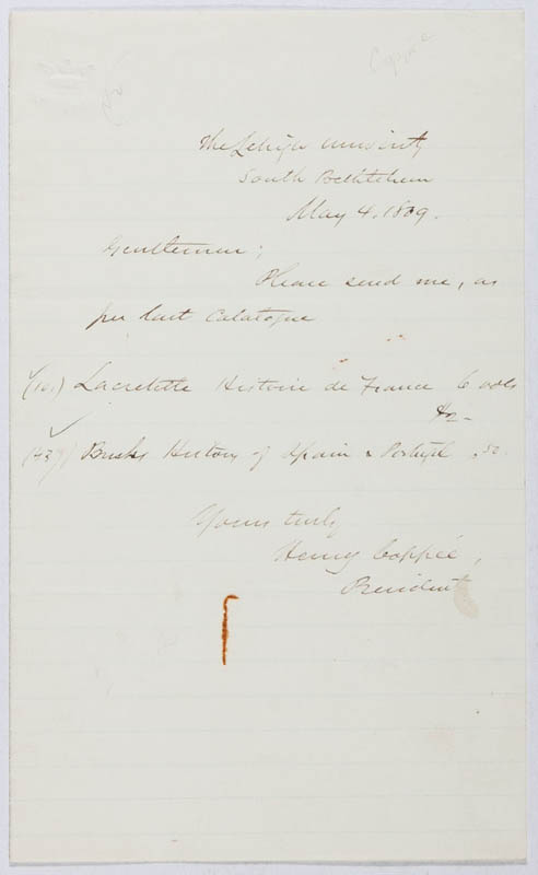Image 1 for Henry Coppee - Autograph Letter Signed 05/04/1869 - HFSID 296555