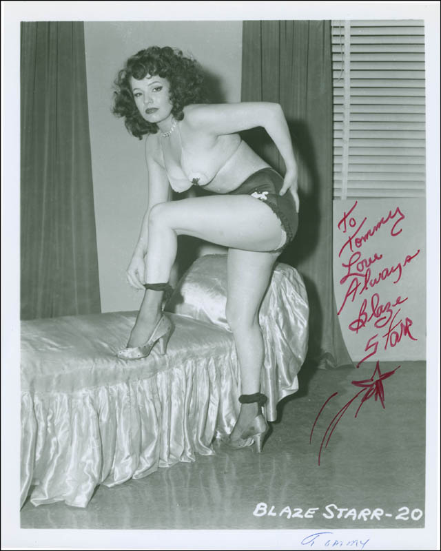 Image 1 for Blaze Starr - Autographed Inscribed Photograph - HFSID 296574