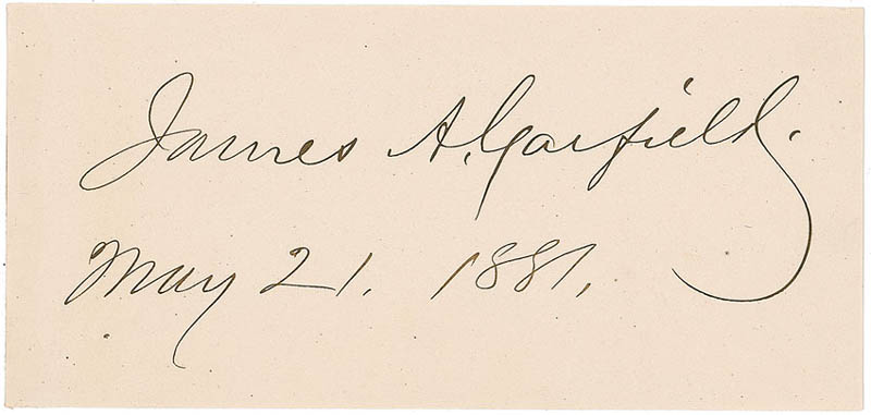 Image 1 for President James A. Garfield - Autograph 05/21/1881 - HFSID 296590