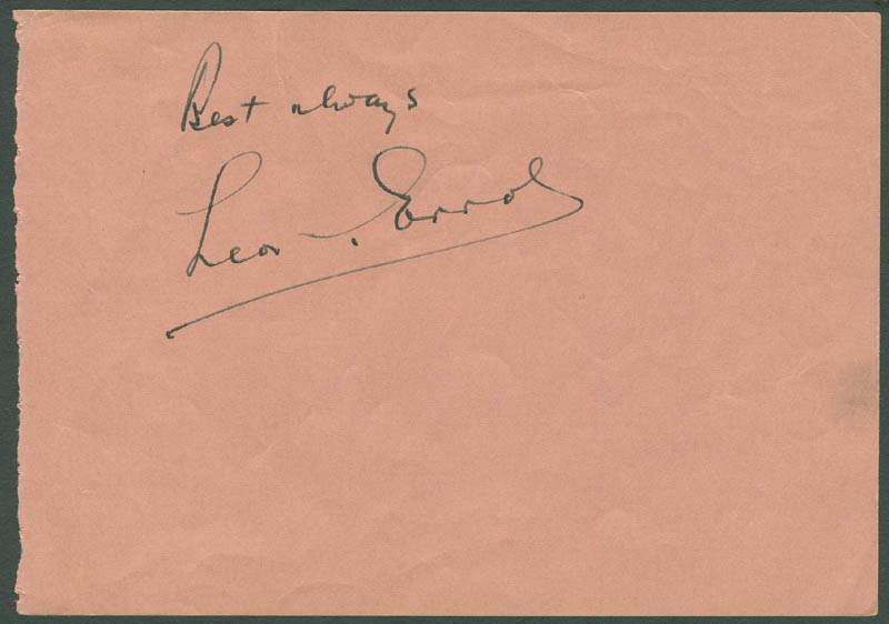 Image 1 for Leon Errol - Autograph Sentiment Signed co-signed by: Barbara Jo 'Vera Vague' Allen - HFSID 296607