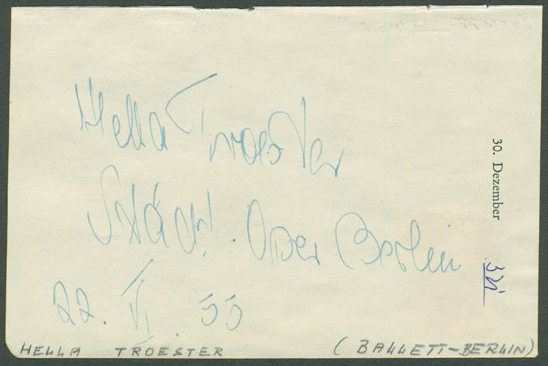 Image 3 for Erwin Bredow - Autograph Note Signed 06/22/1955 co-signed by: Hella Troester - HFSID 296655