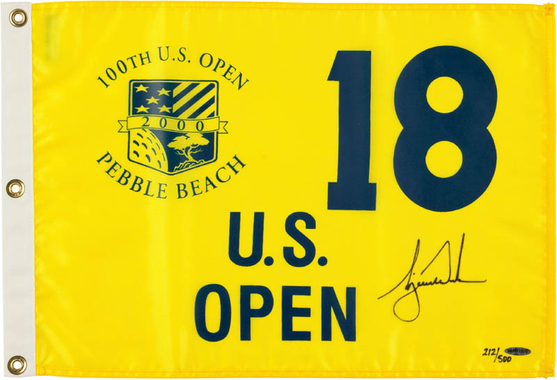 Image 1 for Tiger Woods - Flag Signed - HFSID 296684