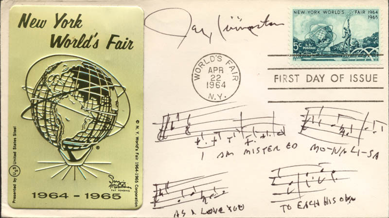 Image 1 for Jay Livingston - Autograph Musical Quotation Signed - HFSID 29669