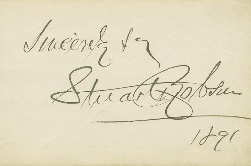 Image 1 for Stuart Robson - Autograph Sentiment Signed 1891 co-signed by: Eugenie Blair - HFSID 296781