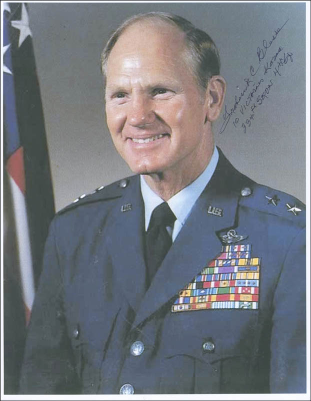 Image 1 for Major General Frederick C. Blesse - Autographed Signed Photograph - HFSID 296819