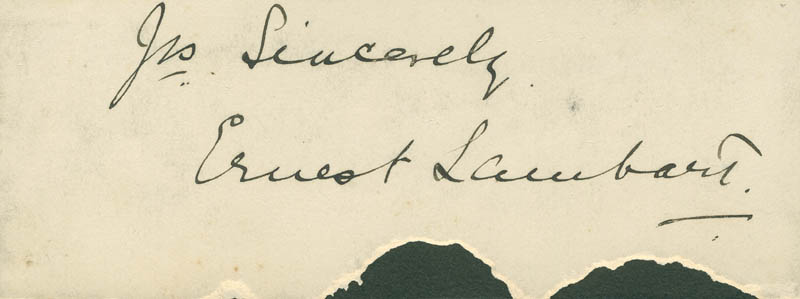 Image 1 for Ernest Lambart - Autograph Sentiment Signed - HFSID 296883