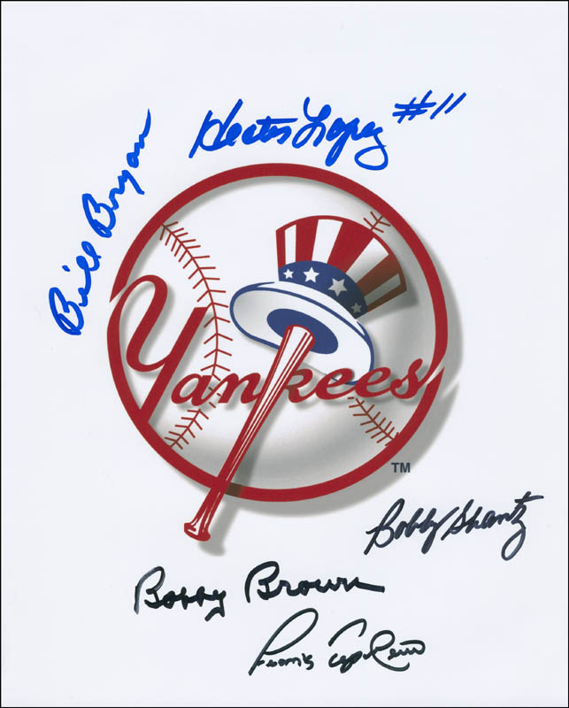 Image 1 for The New York Yankees - Autographed Signed Photograph co-signed by: Hector Lopez, Frank Tepedino, Bobby Shantz, Billy Bryan, Bobby Brown - HFSID 296886