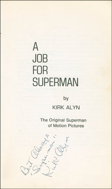 Image 1 for Kirk Alyn - Book Signed - HFSID 296909