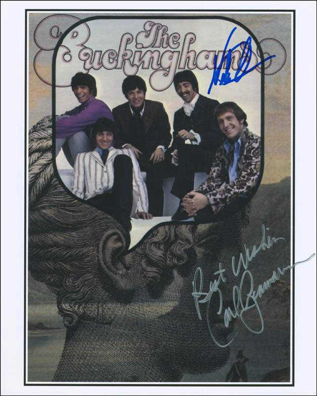 Image 1 for The Buckinghams - Autographed Signed Photograph co-signed by: The Buckinghams (Nick Fortuna), The Buckinghams (Carl Giammarese) - HFSID 296977